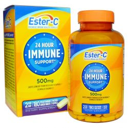 Nature's Bounty, Ester-C, 24 Hour Immune Support, 500 mg, 180 Veggie Coated Tablets