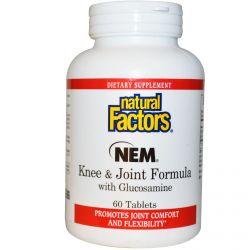 Natural Factors, NEM Knee & Joint Formula with Glucosamine, 60 Tablets