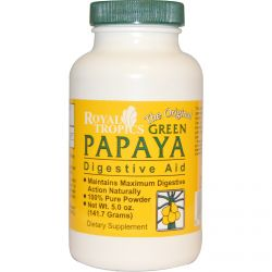 Royal Tropics, The Original Green Papaya, Digestive Aid, 5.0 oz (141.7 g)