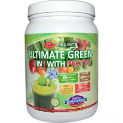 Olympian Labs Inc., Ultimate Greens 8 in 1 with Protein, Delicious Blueberry Flavor, 18.3 oz (518 g)
