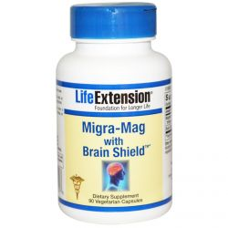 Life Extension, Migra-Mag with Brain Shield, 90 Veggie Caps