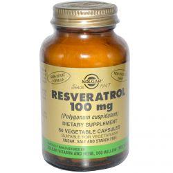 Solgar, Resveratrol (Polygonum Cuspidatum) 100 mg, 60 Veggie Caps