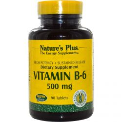 Nature's Plus, Vitamin B-6, 500 mg, 90 Tablets