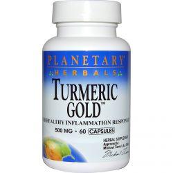 Planetary Herbals, Turmeric Gold, 500 mg, 60 Capsules
