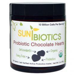 Sunbiotics, Probiotic Chocolate Hearts, 30 Hearts, 2 oz (56 g)