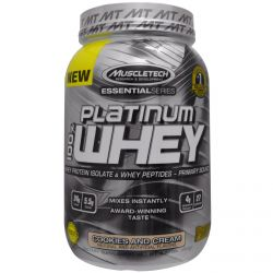 Muscletech, 100% Platinum Whey, Cookies and Cream, 2.00 lbs (907 g)