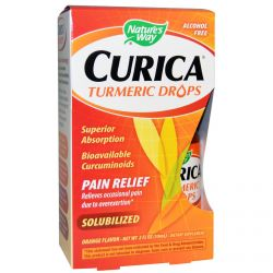 Nature's Way, Curica, Turmeric Drops, Pain Relief, Orange Flavor, 2 fl oz (59 ml)