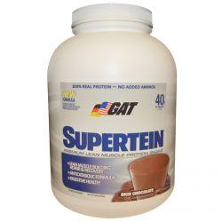 GAT, Supertein, Premium Lean Muscle Protein Shake, Rich Chocolate, 5.0 lbs (2270 g)