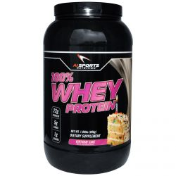 AI Sports Nutrition Anabolic Innovations, 100% Whey Protein, Birthday Cake, 1.98 lbs (896 g)