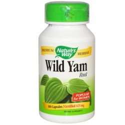 Nature's Way, Wild Yam, Root, 425 mg, 100 Capsules