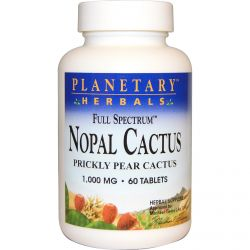 Planetary Herbals, Nopal Cactus, Full Spectrum, 1,000 mg, 60 Tablets