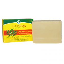Organix South, TheraNeem Naturals, Neem Therapy Cleansing Bar, Maximum Strength, 4 oz (113 g)