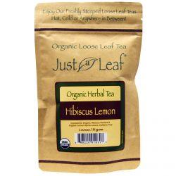 Just a Leaf Organic Tea, Hibiscus Lemon, 2 oz (56 g)