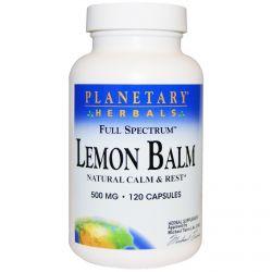 Planetary Herbals, Lemon Balm, Full Spectrum, 500 mg, 120 Capsules