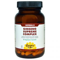 Country Life, Ginseng Supreme Complex, 60 Veggie Caps