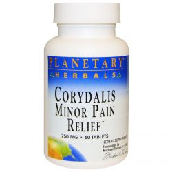 Planetary Herbals, Corydalis Minor Pain Relief, 750 mg, 60 Tablets
