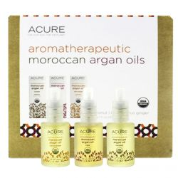 Acure Organics, Aromatherapeutic Moroccan Argan Oils Trio Set, Coconut, Rose, Citrus Ginger, 3.1 fl oz (30 ml) Each