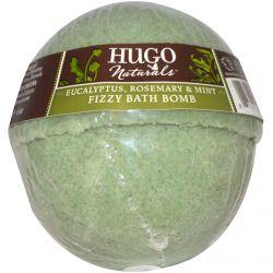 Hugo Naturals, Fizzy Bath Bomb, Eucalyptus, Rosemary & Mint, 6 oz (170 g)