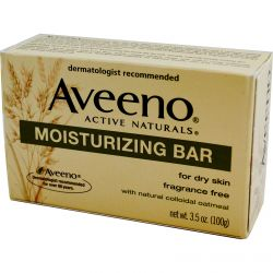Aveeno, Active Naturals, Moisturizing Bar, Fragrance Free, 3.5 oz (100 g)