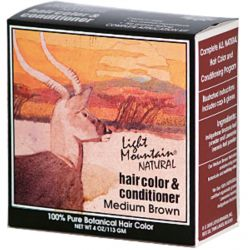 Light Mountain, Natural Hair Color & Conditioner, Medium Brown, 4 oz (113 g)