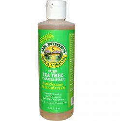 Dr. Woods, Shea Vision, Pure Tea Tree Castile Soap with Organic Shea Butter, 8 fl oz (236 ml)