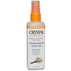 Crystal Body Deodorant, Crystal Essence, Mineral Deodorant Body Spray, Chamomile & Green Tea, 4 fl oz (118 ml)