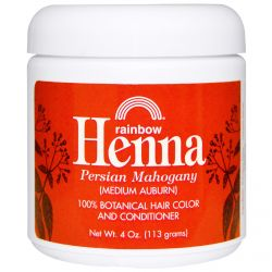 Rainbow Research, Henna, 100% Botanical Hair Color and Conditioner, Persian Mahogany (Medium Auburn), 4 oz (113 g)
