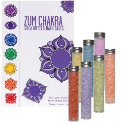Indigo Wild, Zum Chakra, Shea Butter Bath Salts, 7 - 0.8 oz Tubes