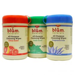 Blum Naturals, All-Purpose Cleansing Wipes, 3 Bottles, 30 Wipes Each