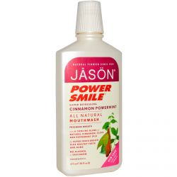 Jason Natural, Power Smile, All Natural Mouthwash, Cinnamon Powermint, 16 fl oz (473 ml)