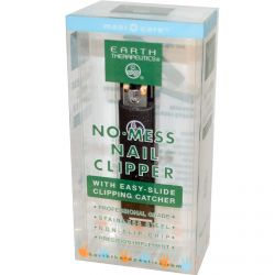 Earth Therapeutics, No·Mess Nail Clipper, with Easy-Slide Clipping Catcher, 1 Clipper