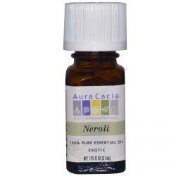 Aura Cacia, 100% Pure Essential Oil, Neroli, .125 fl oz (3.7 ml)