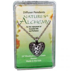 Nature's Alchemy, Heart Necklace, Diffuser Pendants, 1 Pendant