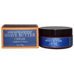 Shea Moisture, African Black Soap Shave Butter Creme, 6 oz (170 g)