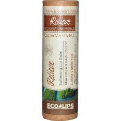 Eco Lips Inc., Softening Lip Balm, Relieve, Coconut Vanilla Nut, .3 oz (8.5 g)