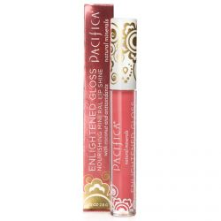 Pacifica, Enlightened Gloss, Nourishing Mineral Lip Shine, Pink Coral, 0.10 oz (2.8 g)