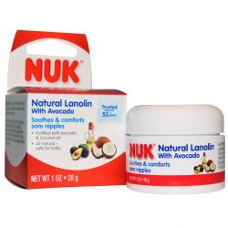 NUK, Natural Lanolin, with Avocado, 1 oz (28 g)
