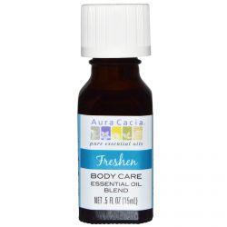 Aura Cacia, Body Care Essential Oil Blend, Freshen, 5 fl oz (15 ml)