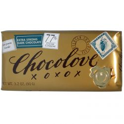 Chocolove, Extra Strong Dark Chocolate, 3.2 oz (90 g)