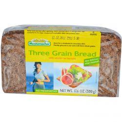Mestemacher, Three Grain Bread with Whole Rye Kernels, 17.6 oz (500 g)