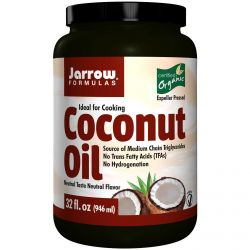 Jarrow Formulas, Organic Coconut Oil, Expeller Pressed, 32 fl oz (946 ml)