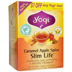 Yogi Tea, Slim Life, Caramel Apple Spice, 16 Tea Bags, 1.12 oz (32 g)