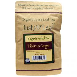 Just a Leaf Organic Tea, Hibiscus Ginger, 2 oz (56 g)