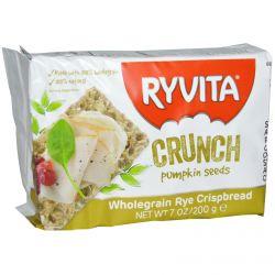 Ryvita, Wholegrain Rye Crispbread, Crunch Pumpkin Seeds, 7 oz (200 g)