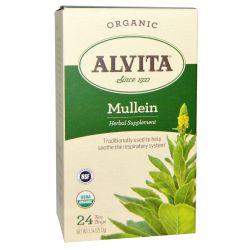 Alvita Teas, Organic Mullein, 24 Tea Bags, 5.54 oz (72 g)