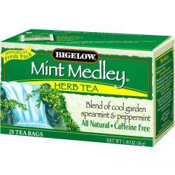 Bigelow, Herb Tea, Mint Medley, Caffeine Free, 20 Tea Bags, 1.30 oz (36 g)