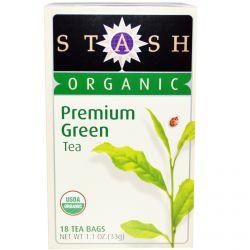 Stash Tea, Organic, Premium Green Tea, 18 Tea Bags, 1.1 oz (33 g)