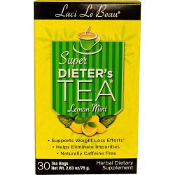 Natrol, Laci Le Beau, Super Dieter's Tea, Lemon Mint, 30 Tea Bags, 2.63 oz (75 g)