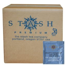 Stash Tea, Double Bergamot Earl Grey Black Tea, 100 Foil Teabags, 6.3 oz (180 g)