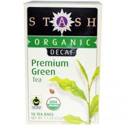 Stash Tea, Organic, Premium, Decaf, Premium Green Tea, 18 Tea Bags, 1.1 oz (33 g)
